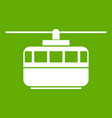 funicular icon green vector image vector image