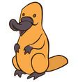 funny cute cartoon platypus vector image vector image