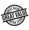 Great Value rubber stamp vector image vector image