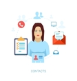 Human reasurce doument and office management flat vector image