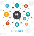 internet trendy web concept with icons contains vector image