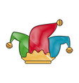 jester hat isolated vector image