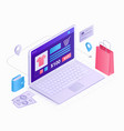 laptop isometric 3d flat design vector image