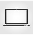 Laptop web icon flat design