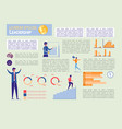 leadership and financial success infographic set vector image