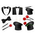 Magician icons vector image