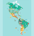 map america tourist and travel landmarks vector image