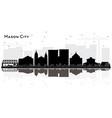 mason city iowa city skyline silhouette with vector image vector image