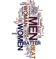 men why do you batter women text background word vector image vector image