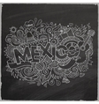 Mexico doodles elements chalkboard background vector image vector image