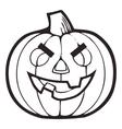 Monochrome Decorative pumpkin Thanksgiving vector image vector image