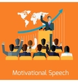 Motivational speech concept design vector image vector image
