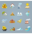Natural Disaster Icons Flat vector image vector image