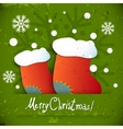 new year christmas boots vector image