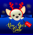 new year sale background vector image vector image