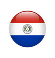 paraguay flag on button vector image vector image