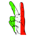 Peace Sign of the Italian flag vector image vector image
