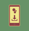 phone settings download and install apps vector image vector image