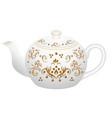 porcelain teapot for tea set ornate with golden vector image