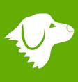 retriever dog icon green vector image vector image