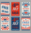 retro 4th july banners for social media vector image vector image