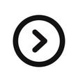 right arrow button icon vector image