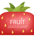 ripe strawberry banner summer background with vector image