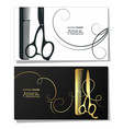 salon beauty and hairdresser business card vector image