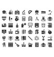 school and education related icon set glyph vector image vector image