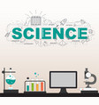 science laboratory with high technology vector image vector image