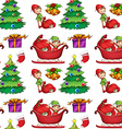 Seamless christmas wrapping vector image vector image