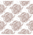 seamless pattern of peony bouquet vector image vector image