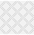 seamless pattern with white 3d elements vector image vector image