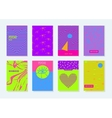 set invitations cardspsychedelic colors Abstract vector image