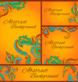 set of abstract cards to create a corporate vector image vector image