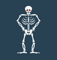 skeleton angry emoji skull grumpy emotion vector image vector image