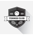 Tennis emblem template vector image