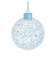 transparent christmas ball isolated on white vector image vector image