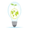 tree world bulb lamp vector image vector image