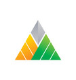 triangle company logo image vector image vector image