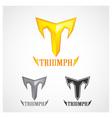 Triumph Gold Symbol vector image vector image
