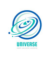 universe - logo concept abstract satellite vector image