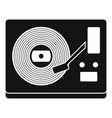vinyl player icon simple style vector image