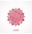 Watercolor pink flower mandala vector image vector image