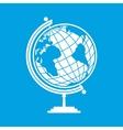 White earth globe vector image vector image
