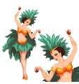 Woman samba dancer Rio carnival vector image
