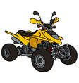 Yellow all terrain vehicle vector image vector image