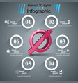 stop no 3d realistic icon business infographic vector image