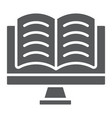 online reading glyph icon e learning education vector image