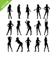 Sexy women and model posing silhouettes vector image